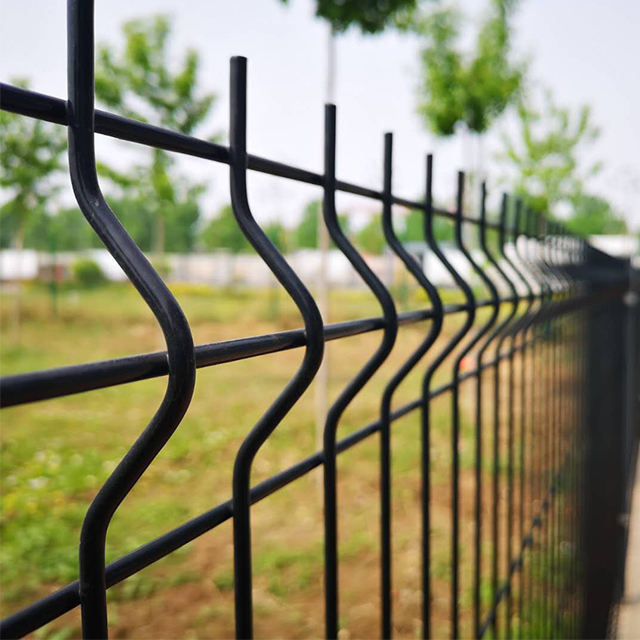 2016 hot sale 3d cheap green wire mesh fence panels fasteners