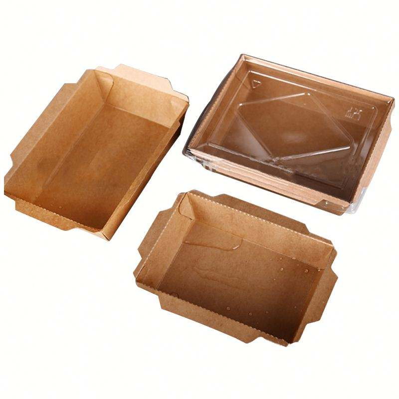 Extripod disposable kraft paper sushi box