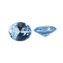 Wholesale Loose Gemstone Sapphire Stones Qval Shape 104# Color Synthetic Gems For Jewelry