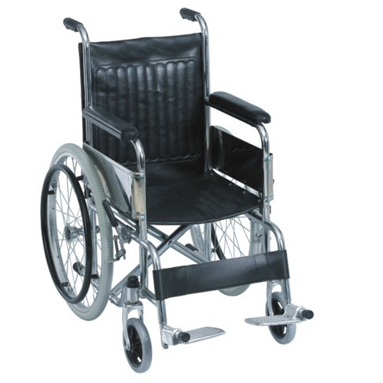 Hospital patient steel wheelchair folding electric wheel chair