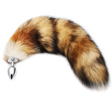 sex toy real fox fur tail anal plug for woman cosplay