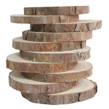 Sale custom natural  birch wood eco-friendly unfinished decorative rustic wooden log slices for DIY crafts