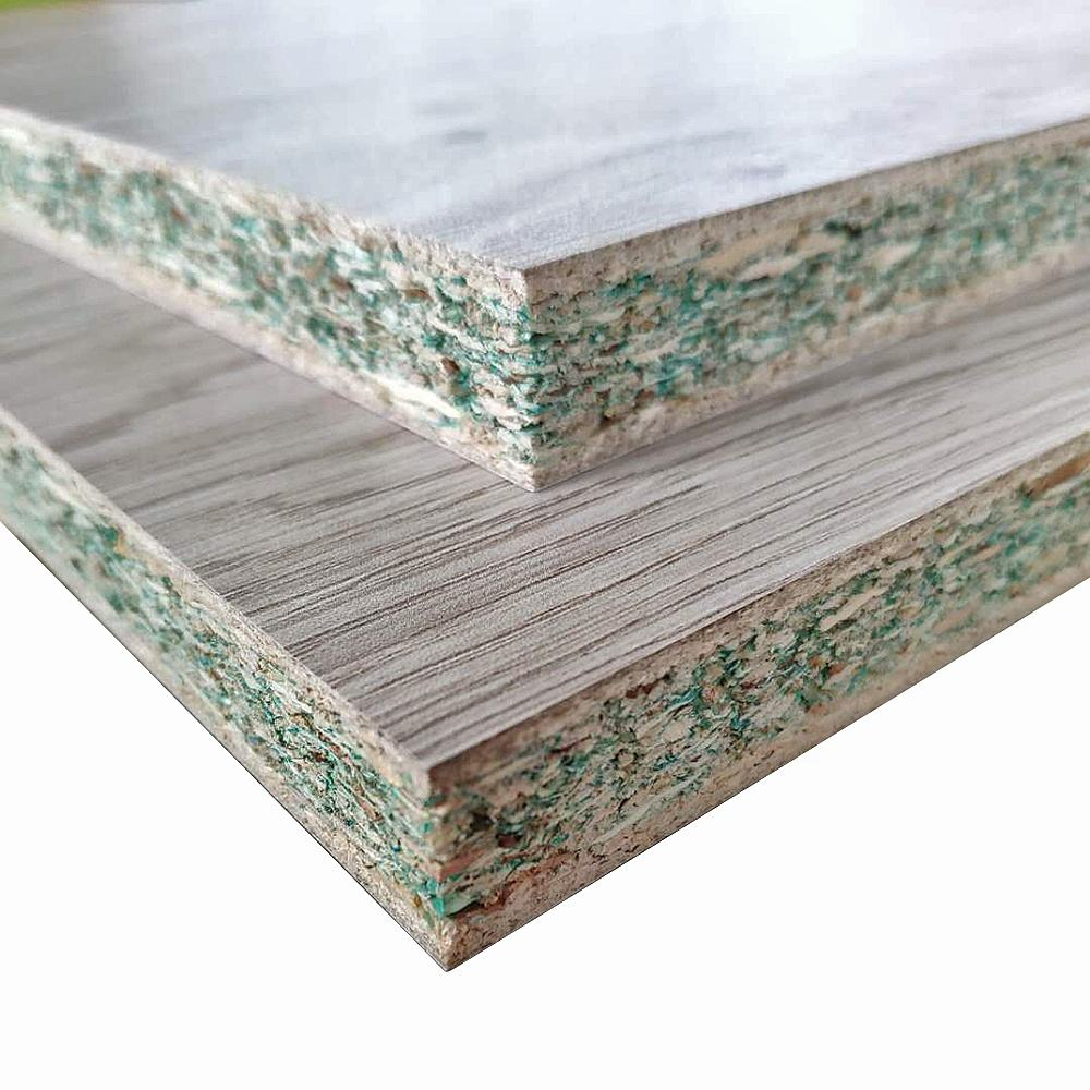 16mm waterproof Melamine Paper Faced hmr particle board on 2 Sides for Kitchen Cabinets