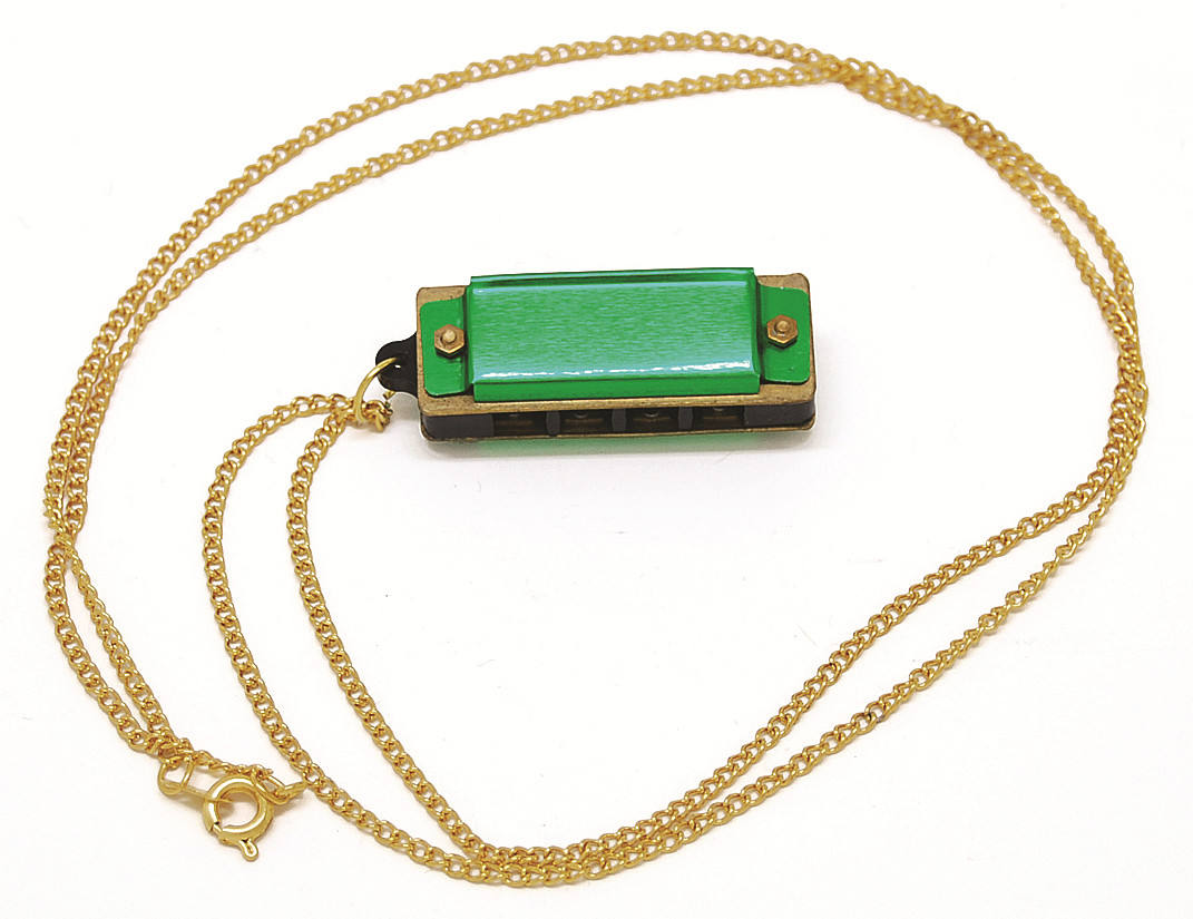 Logo Customization Harmonica Necklace 4 Hole Mini Harmonica Pendant Necklace