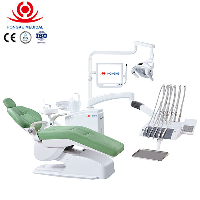 New Design siger dental unit Dental Chair with LINAK Motor and Top mounted instrument