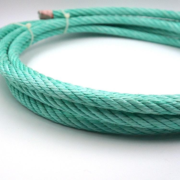 Polypropylene steel wire combination rope for fishing