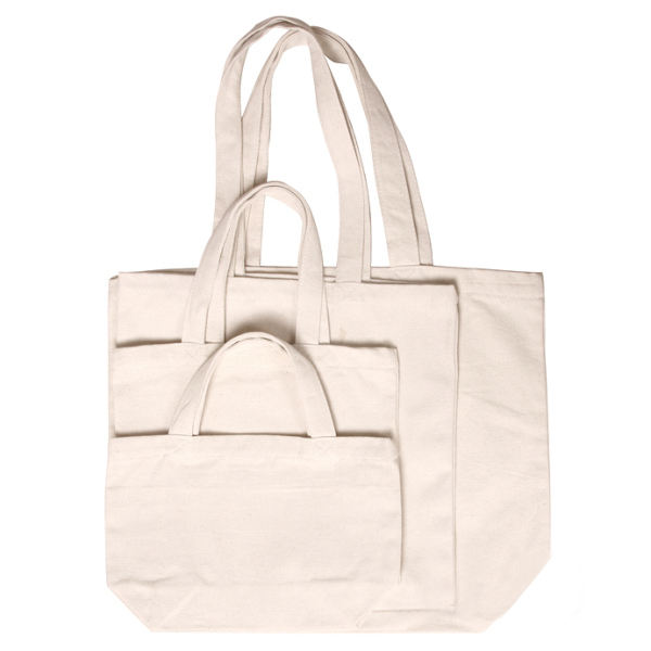 Eco friendly zipper canvas cotton tote bag for shopping with logo
