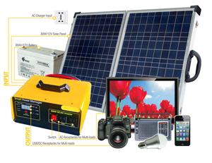 Portable 500W solar energy systems off grid kit inverter solar power system