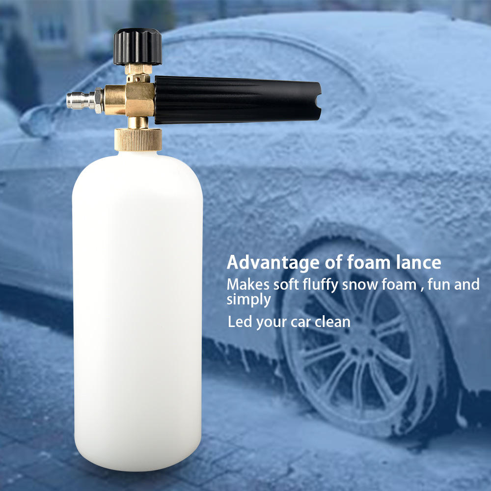 High Pressure Car Wash Snow Foam Cannon Foam Spray Cannon Bottle Snow Foam Lance with 1/4'' Quick connector