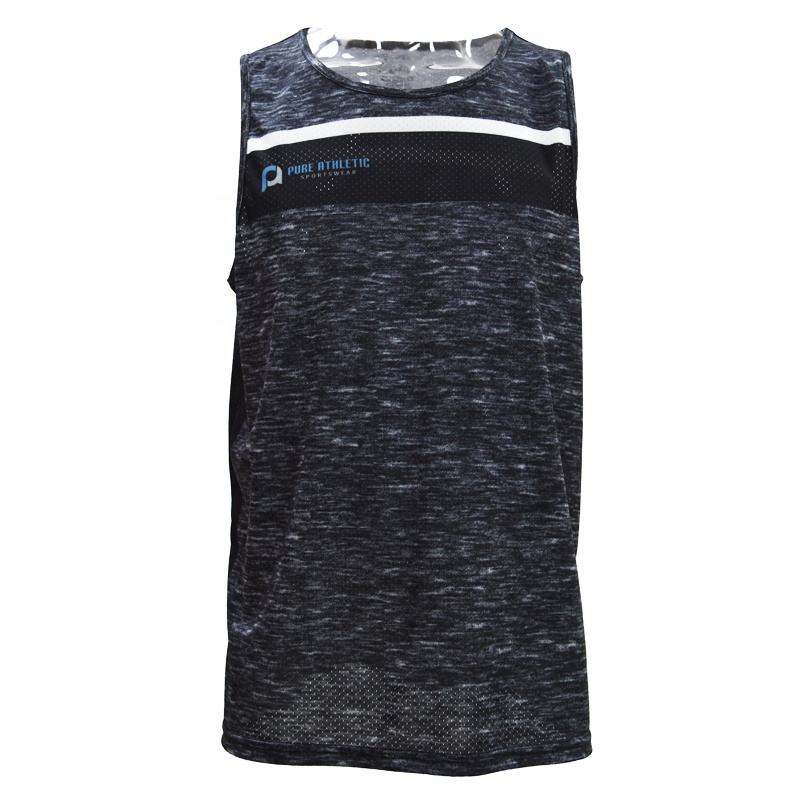 PURE High Quality Men Bodybuilding Tank Top Sublimation Custom Gym Singlet
