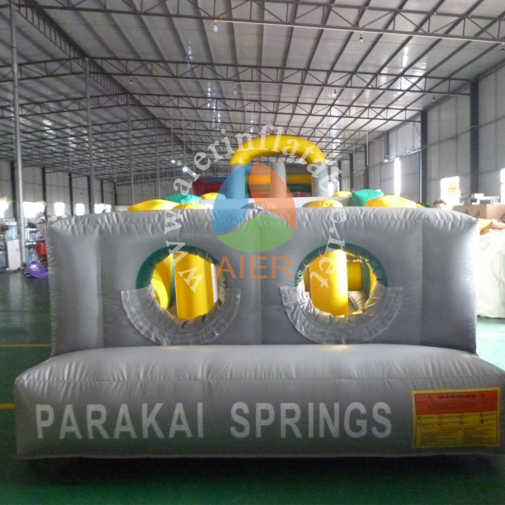 Funny inflatable obstacle course/ inflatable 2 parts obstacle for adults
