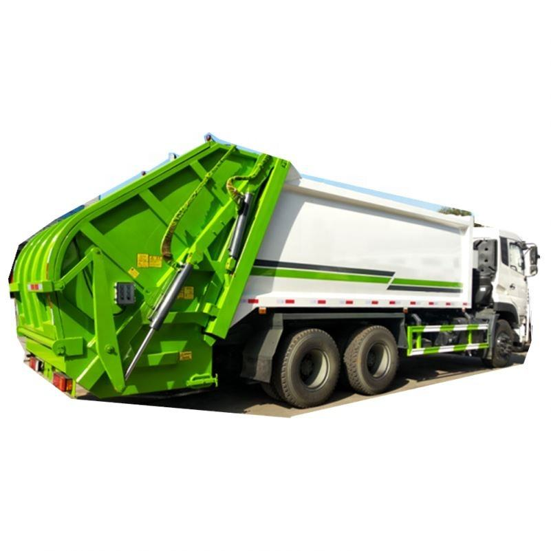 Germany technology 6x4 16m3 heavy duty rear loading garbage truck with pressing mechanism