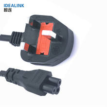 UK Approval 3 Pin Computer Laptop AC Power Cord Extension Cable Wire Electric Plug Connector