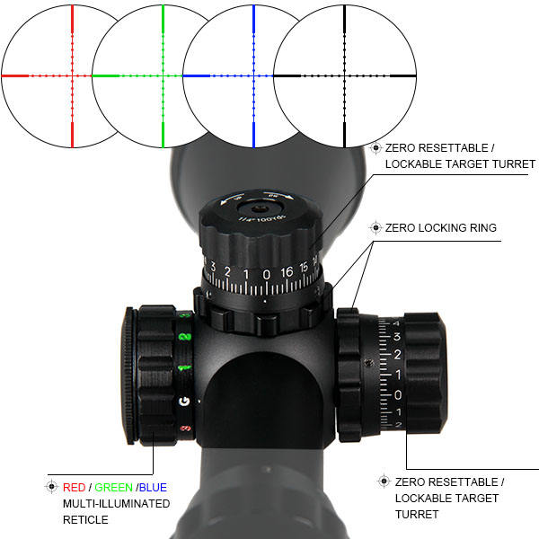 Weapon aiming airgun rifle scope 3-9X32 AOL Mil-Dot scope 4 levels brightness illuminated telescope for hunting GZ1-0174