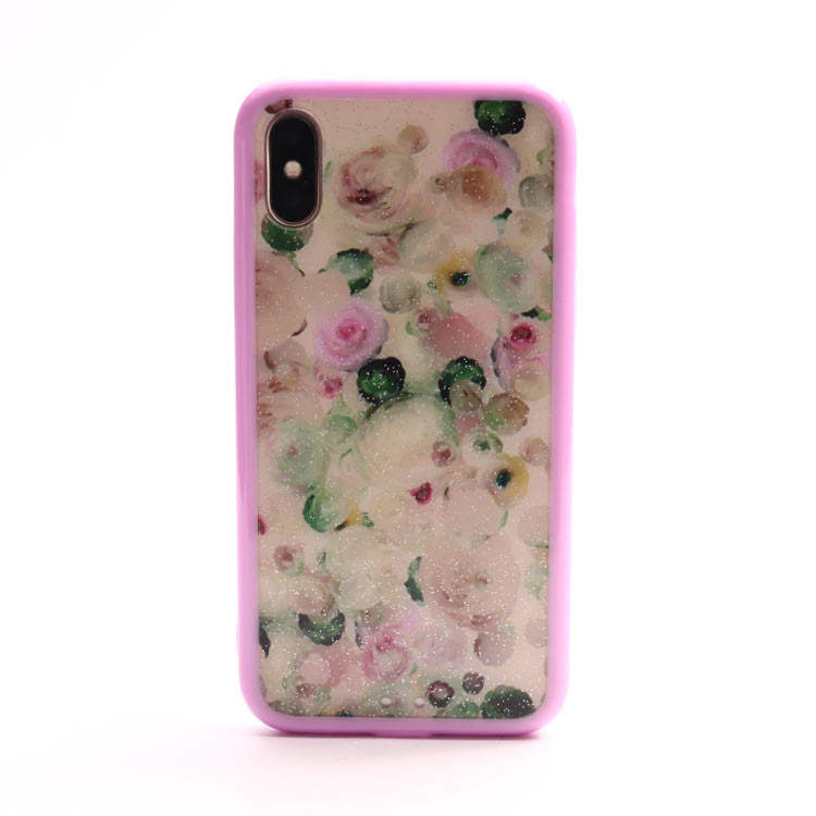 Retro Flower Printing Tpu Case IMD Palm Fronds Vacation Mobile Phone Case