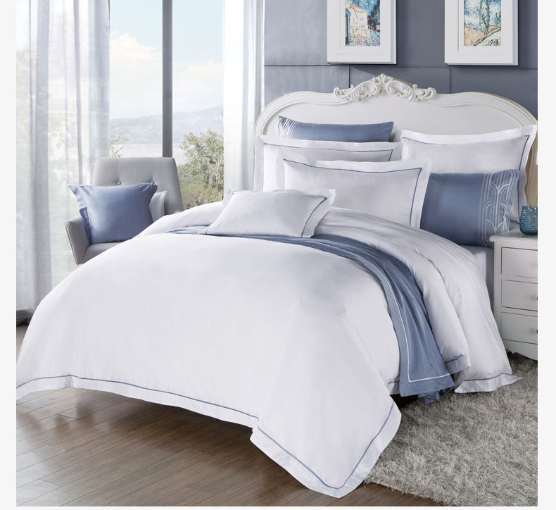 hotel white 7piece single/twin/full size cheap comforter sets duvet cover set