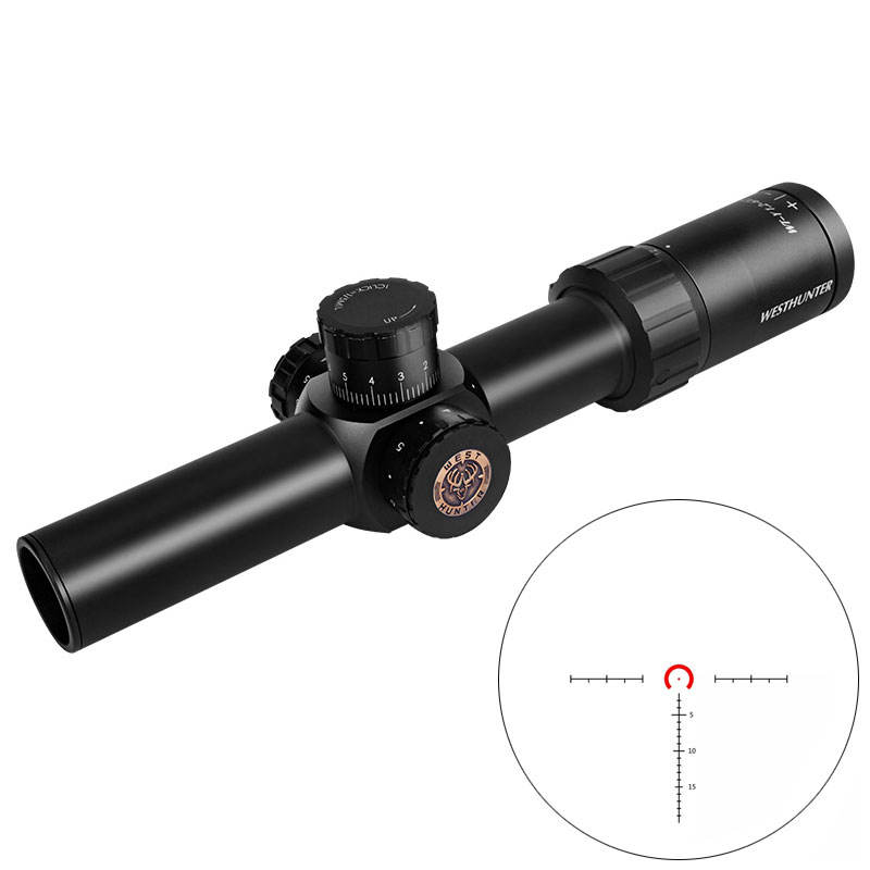 도매 China Rifle Scope Manufacture WESTHUNTER WT-Y 1.2-6X24IR Hunting 군 Tactical Riflescope 대 한 AK 47 건