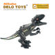 Plastic building blocks the Jurassic Dinosaur series Black D - Rex with pattern Animal Toys for Kids (DE225D)