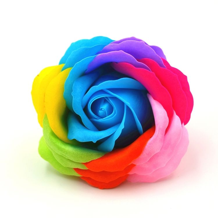 9 PCS Rose Shaped Colorful Soap Flowers