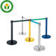 Steel Stanchion Crowd Control Barrier Hotel Stainless Steel Crowd Control Barrier Stanchion Queue Pole
