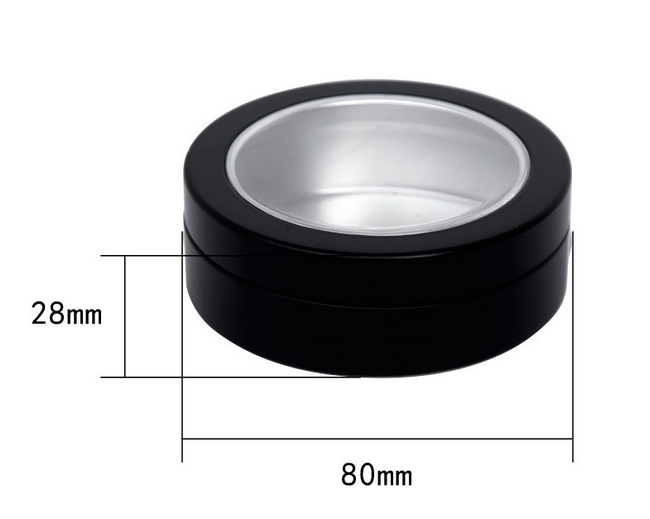 free sample 15g 30g 50g 60g 100g aluminum cosmetic jar with visible window for lip balm body cream
