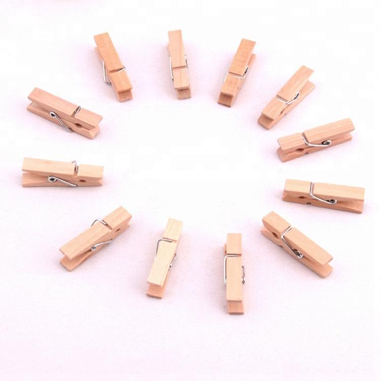 Китай поставщик высокое качество натуральный деревянный пружинный зажим деревянная одежда подвесная прищепка для бумаги висит