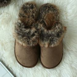 indoor warm wholesalefaux fur TPR sole ladies fancy slippers