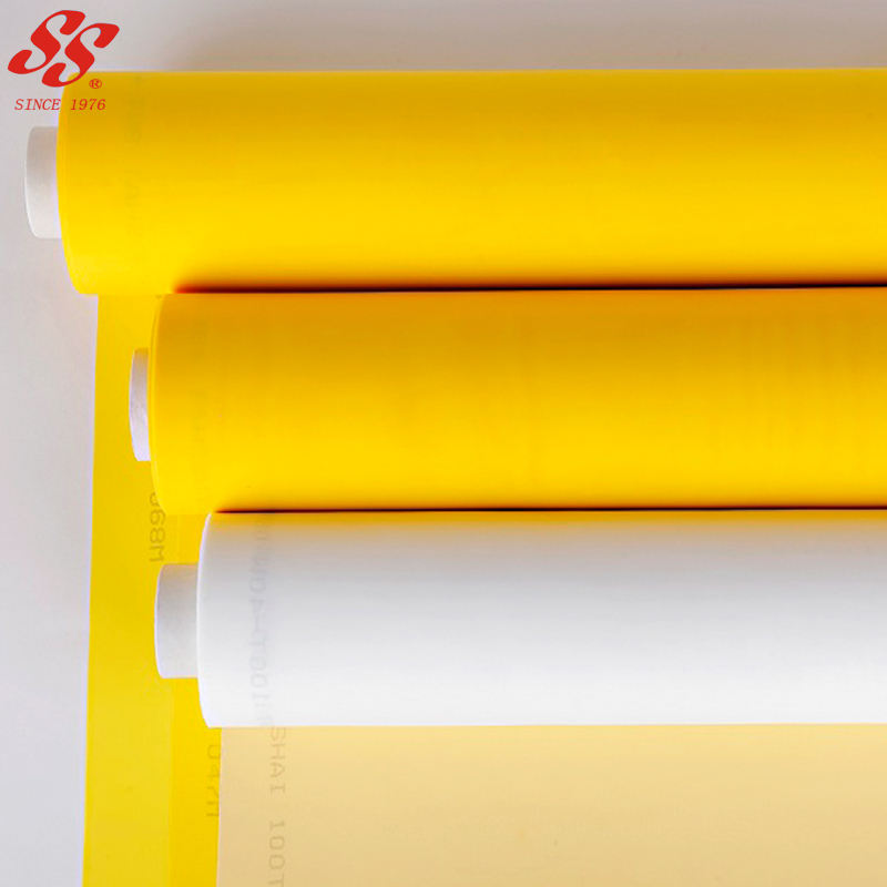 white yellow polyester fabric screen printing mesh for screen printing
