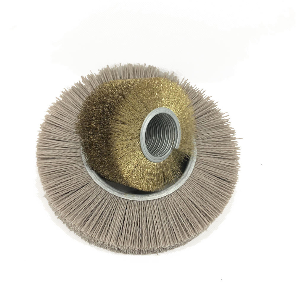 China Anhui anqin roller brush sanding roller brush Polishing Wood Tampico Sanding Roller Brush