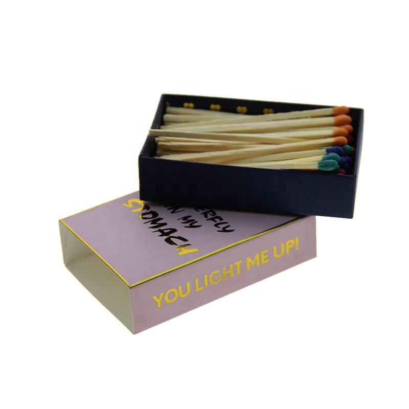 High-end and pretty packaging gold foil stamping matchbox