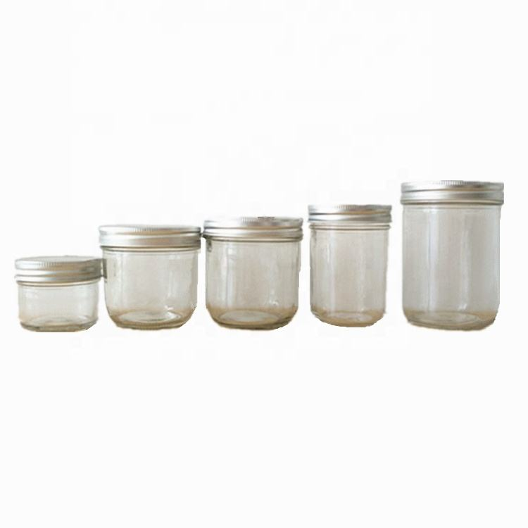 100ml 200ml 300ml 330ml 500ml Cylinder Wide mouth glass canning mason jars