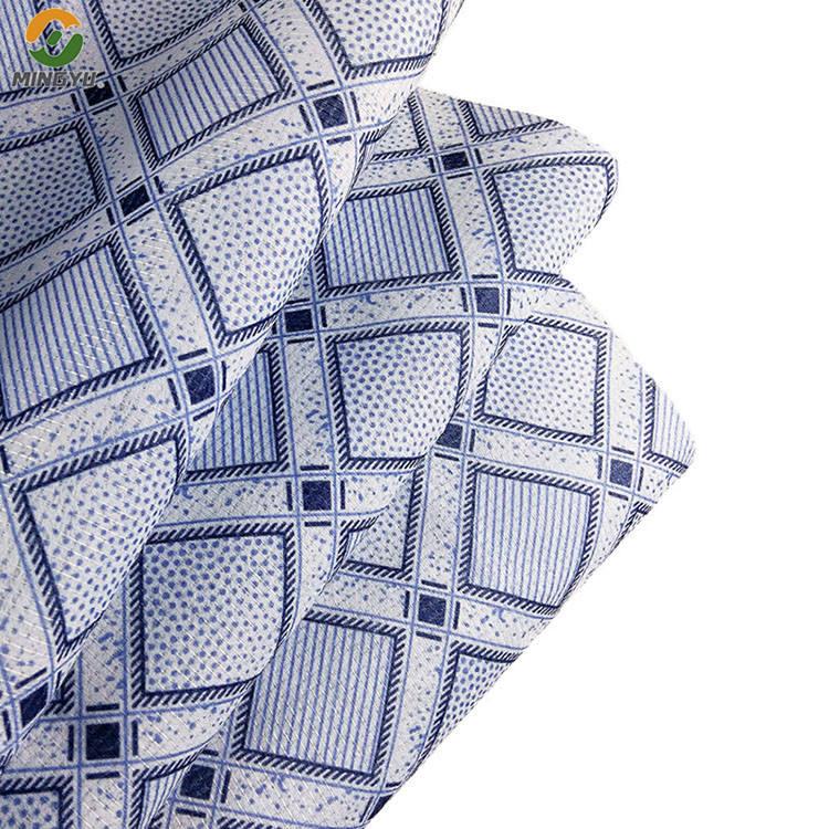 Tissu non tissé cousu par <span class=keywords><strong>polyester</strong></span> de viscose de force de traction de fournisseur chinois de haute qualité