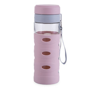 700 ml PP and Glass Material Water Bottles with Rope