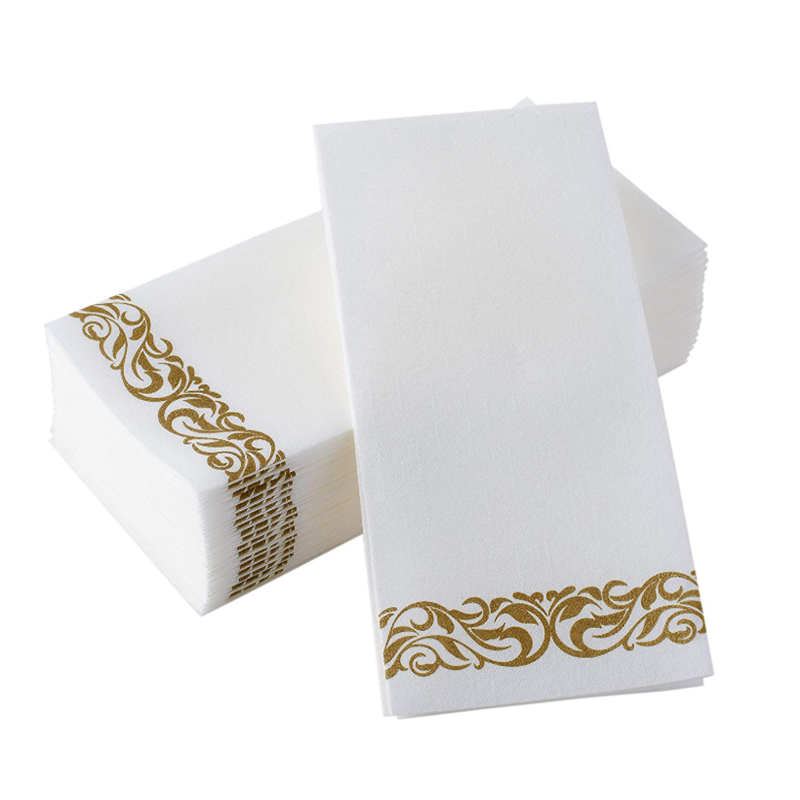 VOBAGA luxury disposable paper decorative bathroom hand towels napkins