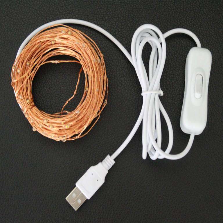 2m 20 leds mini copper wire waterproof string lights for Christmas