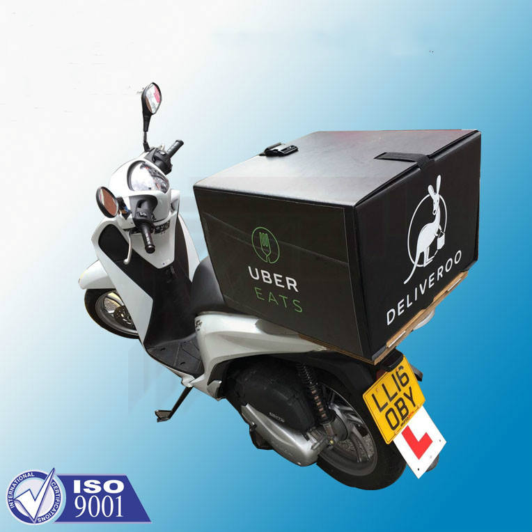 Correx Plastic golfplaten pizza delivery box voor scooter bike motorcycle