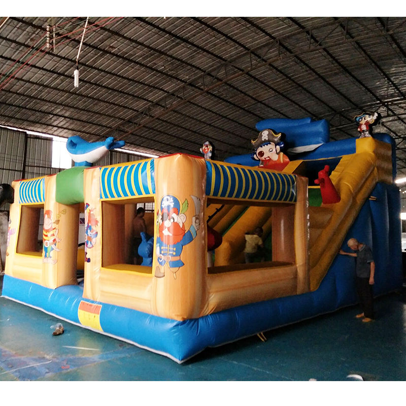 PVC inflatable Jumping castle /commercial Pirate Boat bouncing castle/cheap adult Pirate Ship jump castle with slide