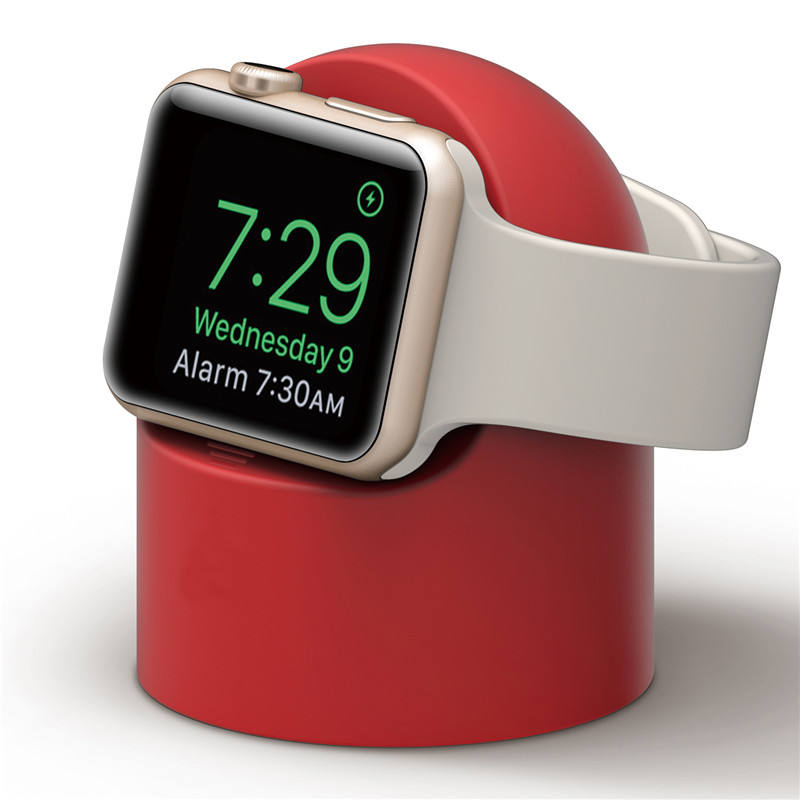 2019 premium silicone support de charge pour apple montre, pour apple montre support de silicone 38mm 42mm