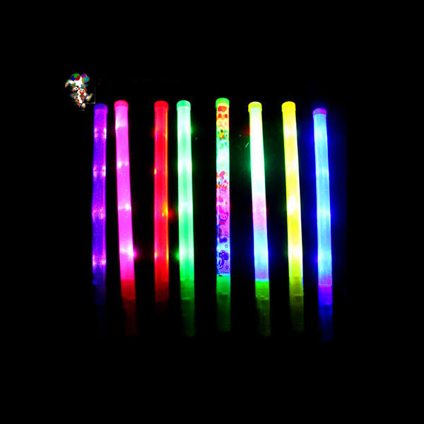 Goedkope Party Cheer Fan Custom Print Plastic Led Glow Sticks HPC-3215
