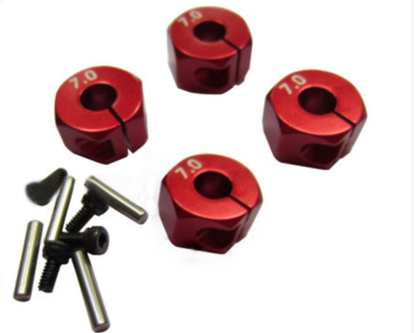 12mm Universal Wheel Hex Hub Adapter red/5.0/6.0/7.0 metal wheel hex adapter parts for rc car