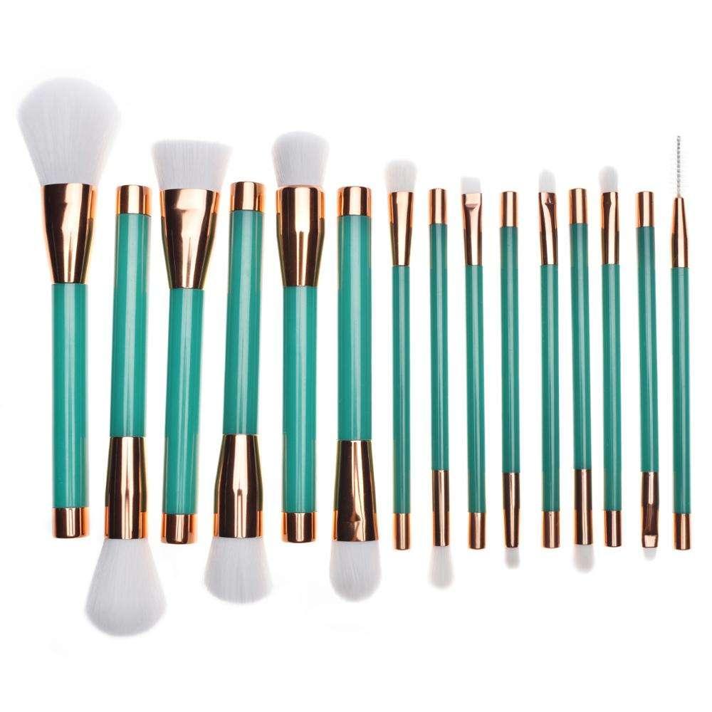 15 pcs <span class=keywords><strong>polyvalent</strong></span> cosmétique personnalisé professionnel maquillage brush set échantillon gratuit make up gros kit