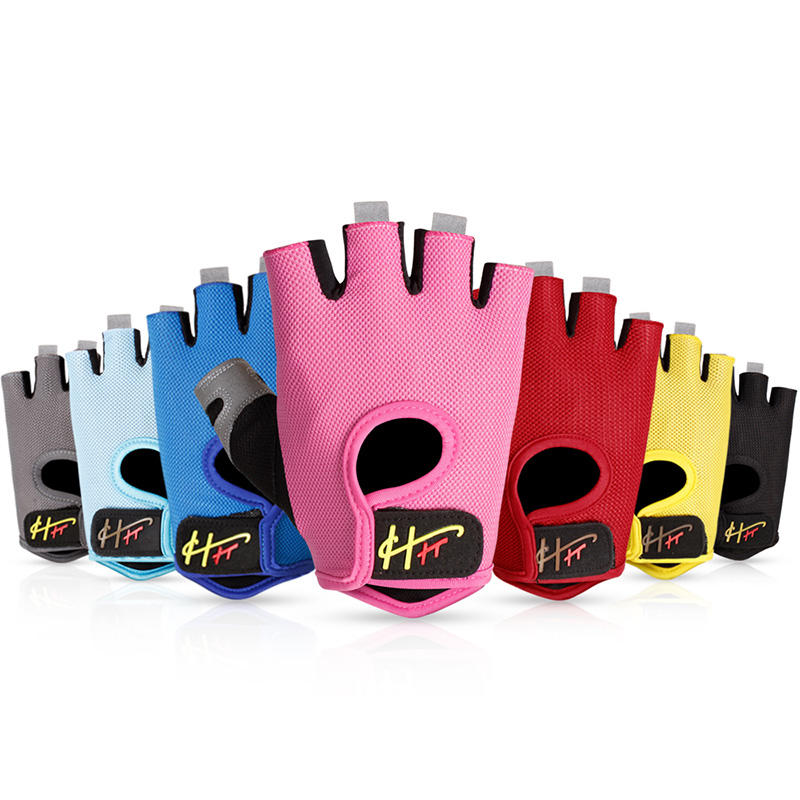 Custom yoga fingerless gym bodybuilding weight lifting gloves women