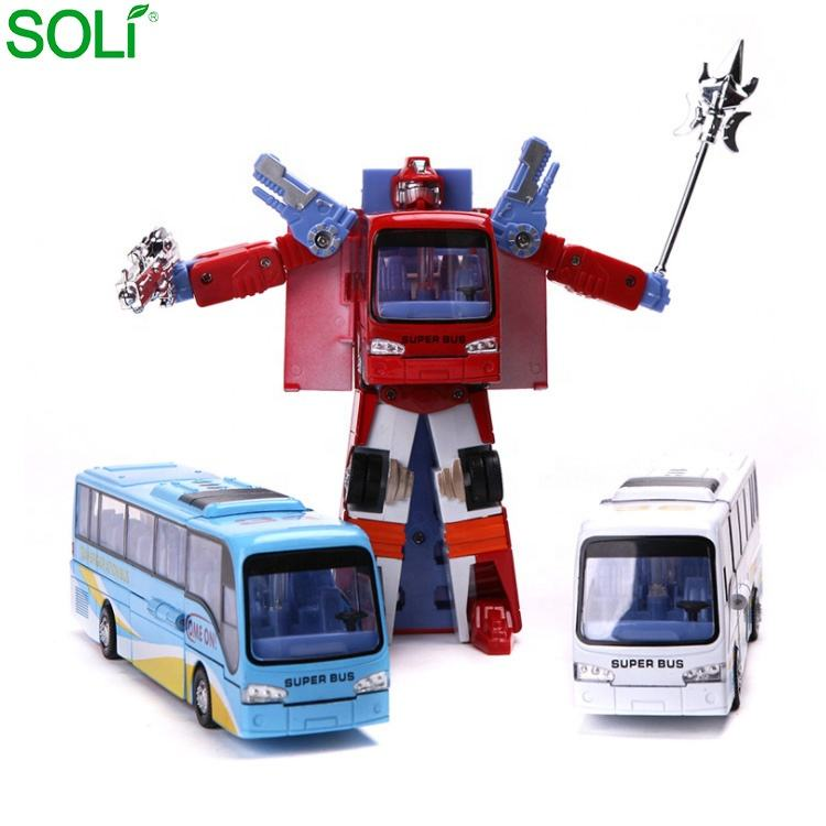 Kind Blauw Wit Rood Legering Plastic Robot Transformeren <span class=keywords><strong>Speelgoed</strong></span> Bus