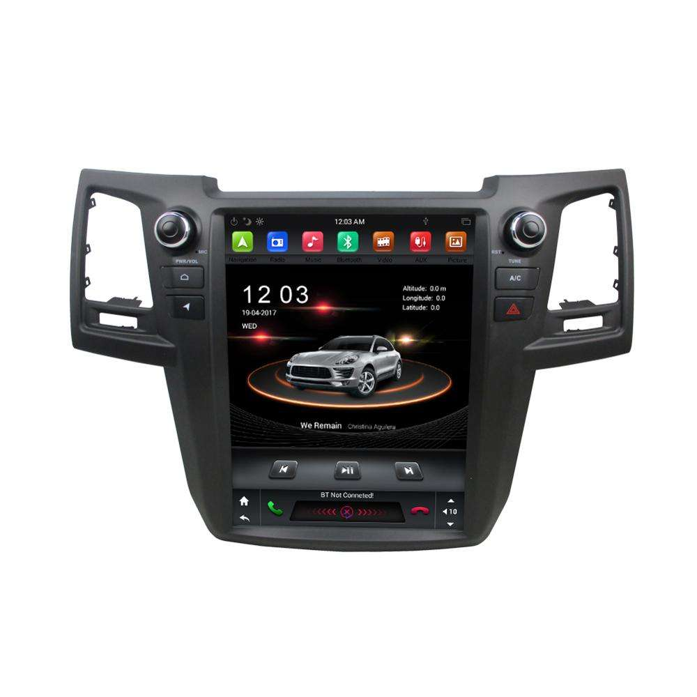 KD-1212 android 7.1 4 core 2din auto audio mit 12,1 zoll vertikale touch screen auto multimedia dvd player für Fortuner 2015
