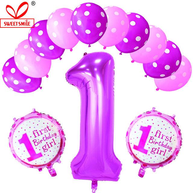 Rotondo Onda Point Lattice Ballon Baby1st Anniversario di Matrimonio Compleanno Decorazione Del Partito Ballon