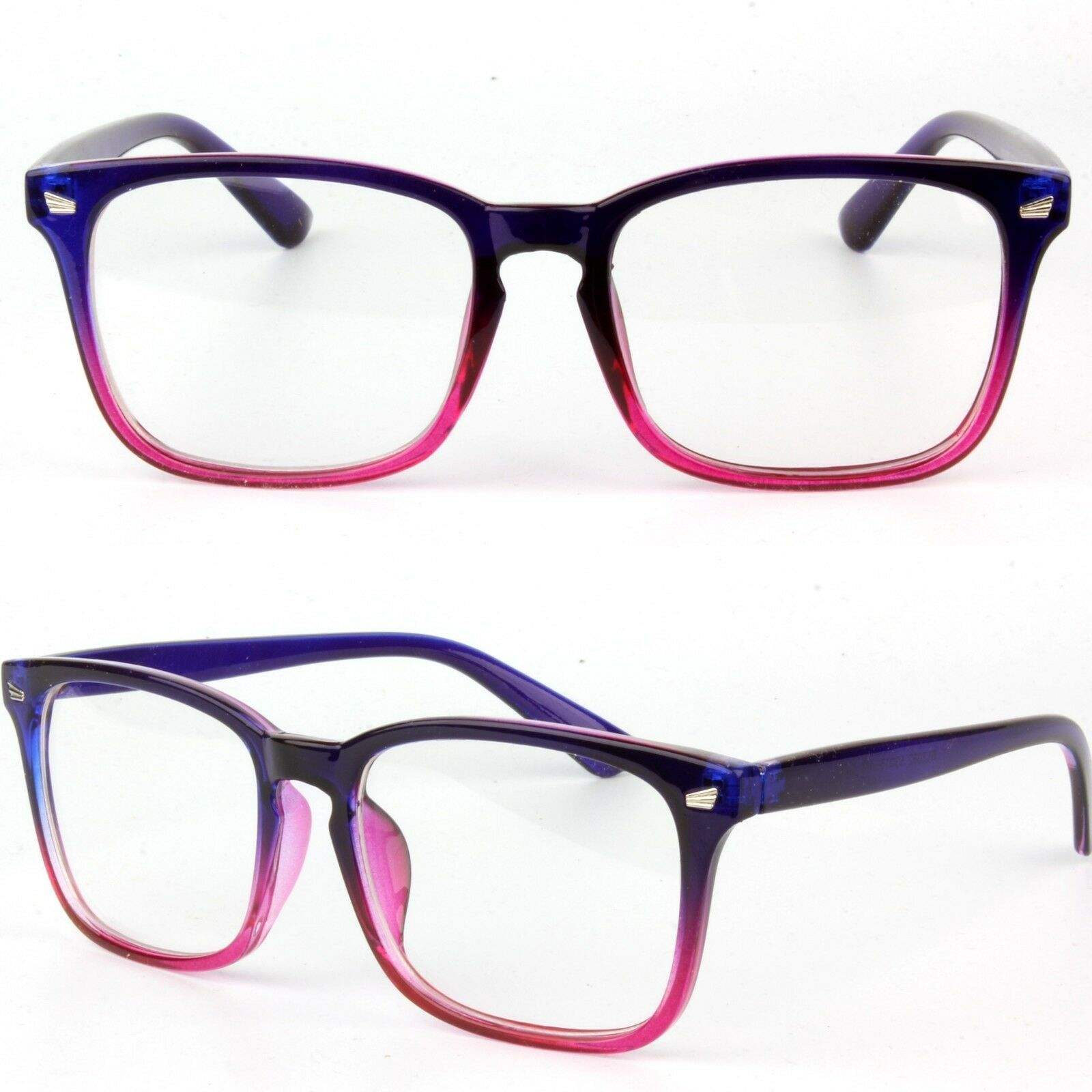 Womens Clear Lens 스퀘어 (times square) 프레임 Vintage Retro 패션 긱 Glasses AA514
