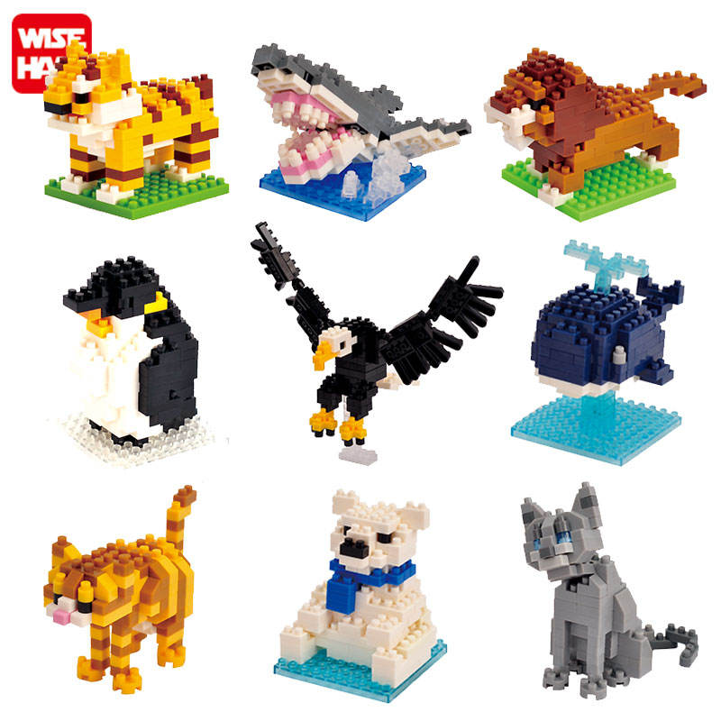 Cheap plastic micro building brick DIY animal educational small promotional nano block toys