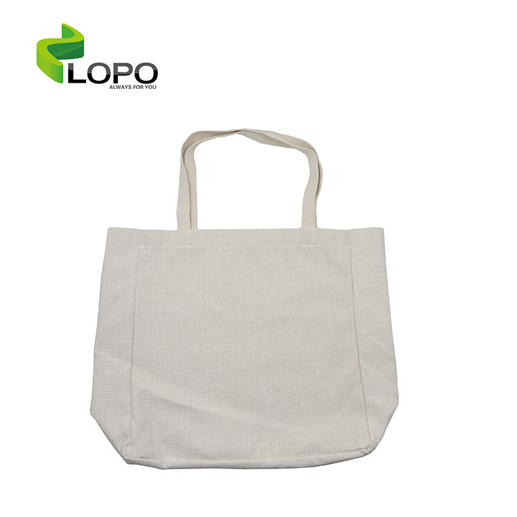 Popular dye sub blank linen shopping bag for sublimation