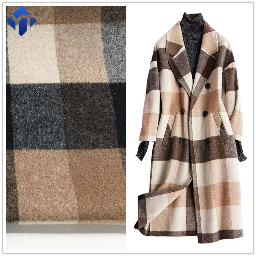 Woolen cheap mills price recycled polyester staple fibers fabrics for clothes