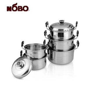 New item 5 sets American style stainless steel steamer pot set cooking ware set